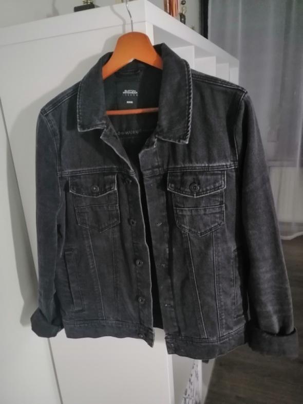czarna kurtka jeansowa katana oversize
