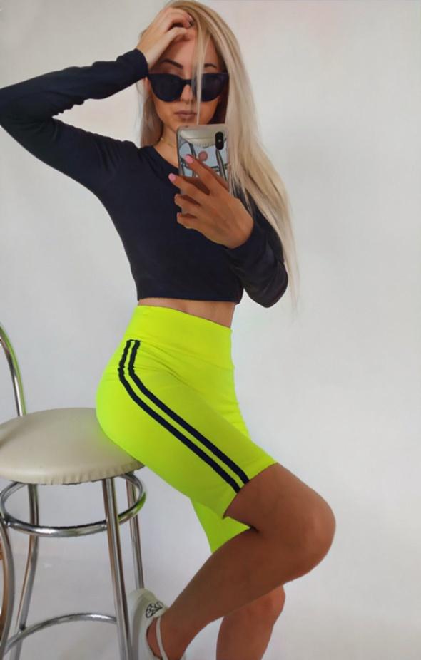 Krótkie legginsy getry neon...