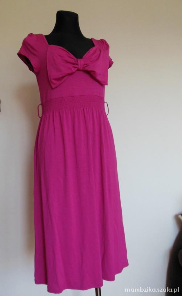 Suknie i sukienki ORSAY RÓŻOWA SUKIENKA M NOWA KOKARDA WISKOZA 38