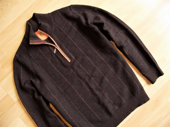 Maerz MARZ ciepły sweter czysta wełna 48...
