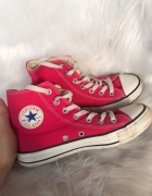 Świetne różowe długie Converse All Star oryginalne 365 tumblr jesień