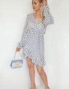 Sukienka asymetryczna szyfonowa