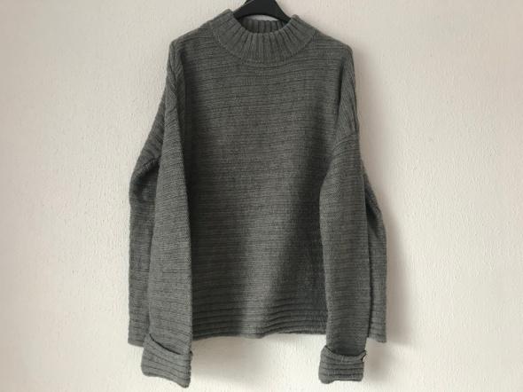 szary sweter Lindex oversize XS S...