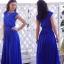Nowa sukienka długa maxi niebieska kobalt wesele M...