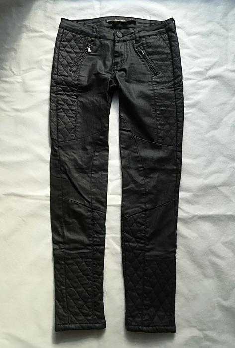 Zara czarne motocyklowe spodnie XS...