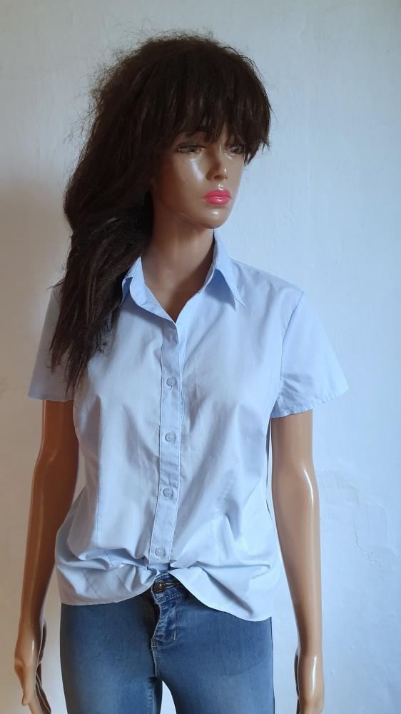 Elegancka koszula na krótki rękawek r L...