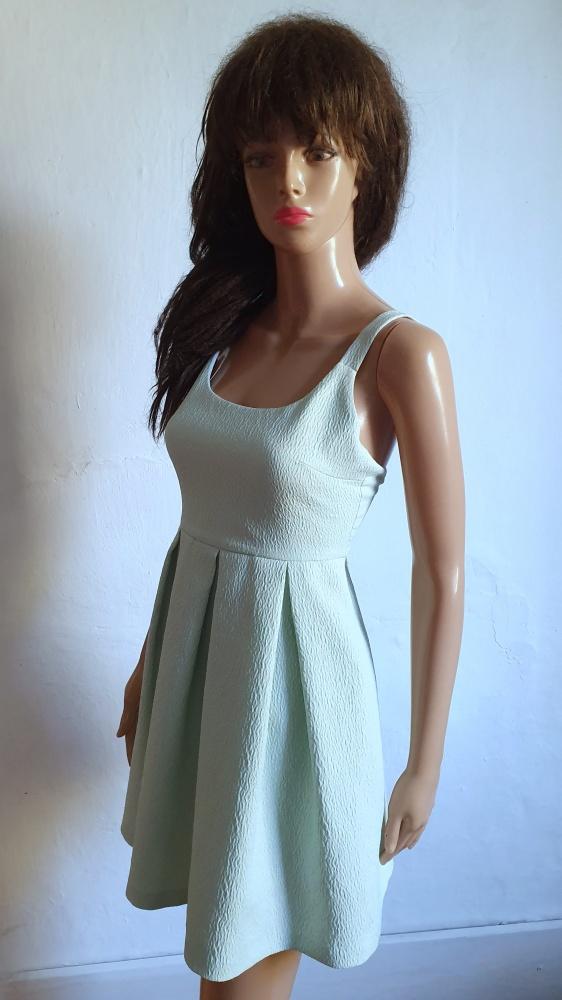 Jasnoniebieska rozkloszowana sukienka r M...