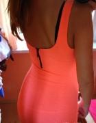 Sukienka Bershka neon M...