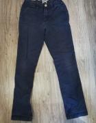 Granatowe spodnie H&M...