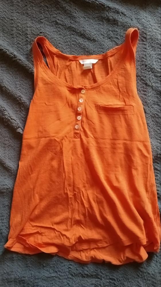 pomarańczowa zwiewna bluzeczka H&M...