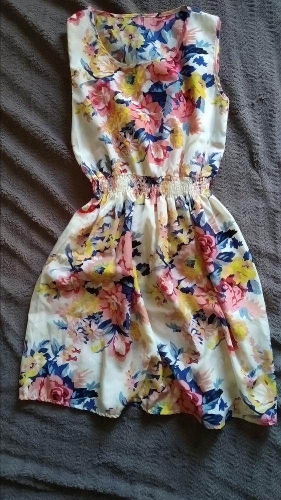 sukienka w kwiaty rozmiar SM