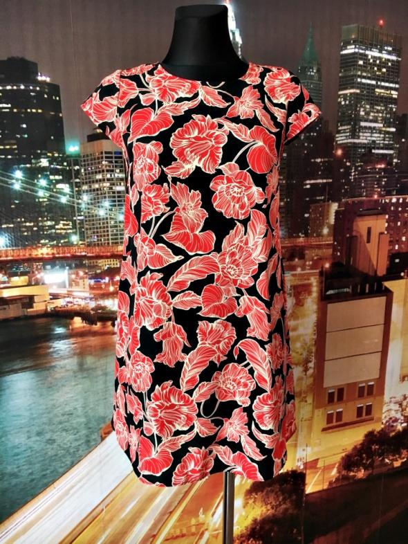atmosphere sukienka trapezowa kwiaty hit blog 34 XS...