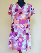 Letnia kolorowa sukienka tunika M L...