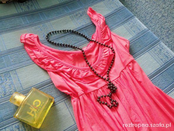 letnia sukienka koral S M 20 zł z wysyłką