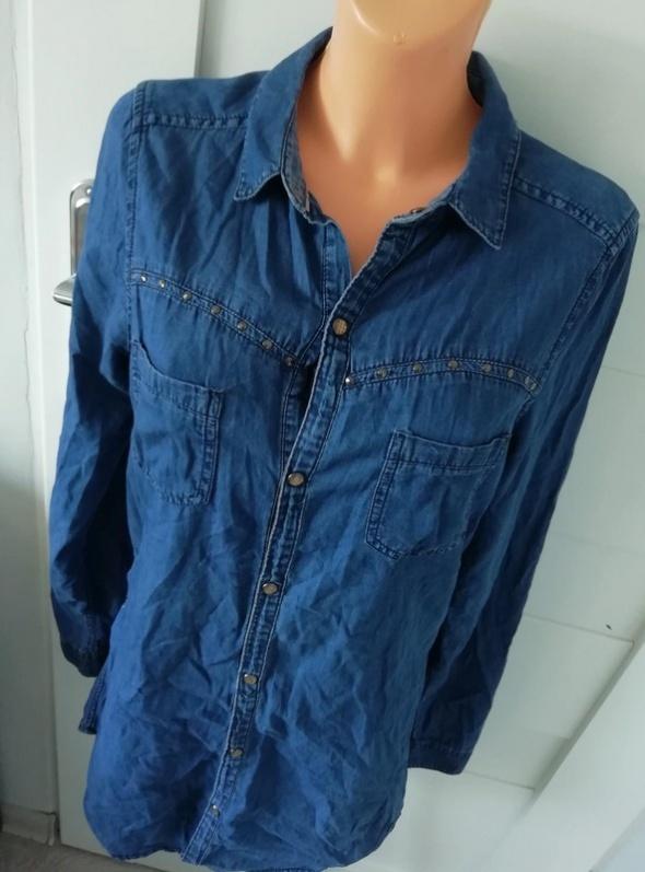 Koszule długa koszula jeansowa tunika bershka