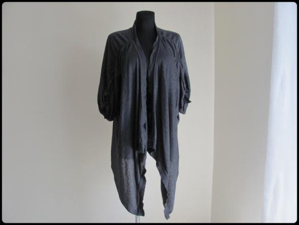 Sweter narzutka asymetryczna luźna z wiązaniem 40 L...
