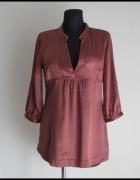 Koszula tunika w rdzawym kolorze Vero Moda 38 M asymetryczna...
