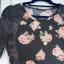 Sukienka w kwiaty z koronką
