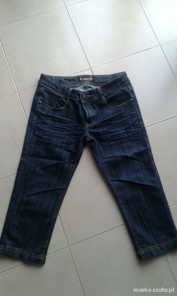 Spodnie jeansowe dżinsy 34 kamienie 38M