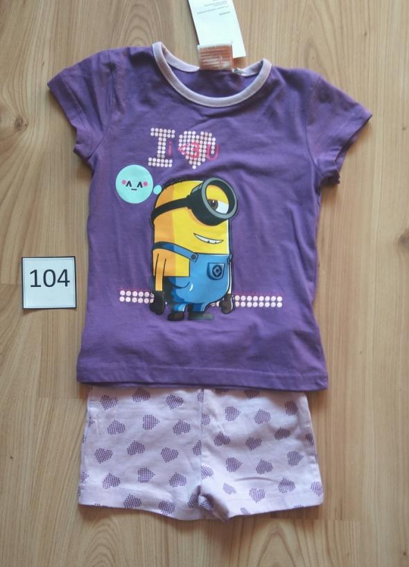 Piżamki Piżama z krótkim rękawem nowa z Minionkiem 104