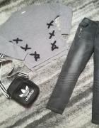 Jak nowy jesienny zestaw tunika i firmowe jeansy rozm 146...