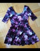 welurowa sukienka w kwiaty NEW LOOK rozmiar L 40...