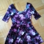 welurowa sukienka w kwiaty NEW LOOK rozmiar L 40