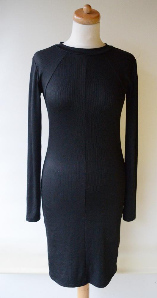 Sukienka Czarna Prążki Ołówkowa M 38 Gina Tricot...