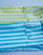 NOWE modne spodnie w paski miętowe rurki cytrynowe obcisłe jak ...