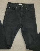 spodnie jeans rurki ZARA high S czarne...