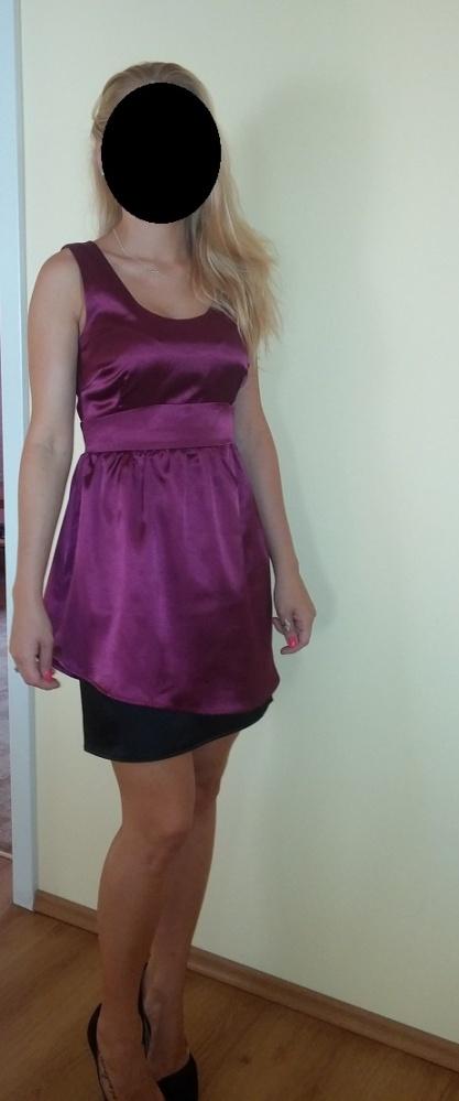 Jagodowa sukienka