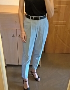 Spodnie w paski z wysokim stanem M L...