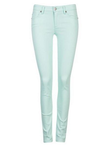 Spodnie Cubus miętowe jeansy rurki piękne r 40 42