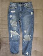 Spodnie jeans boyfriend missguided 38 dziury...