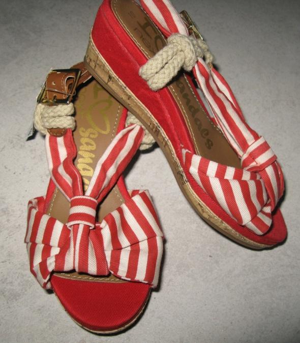 NEXT dziewczęce czerwone buty na koturnie roz 28...