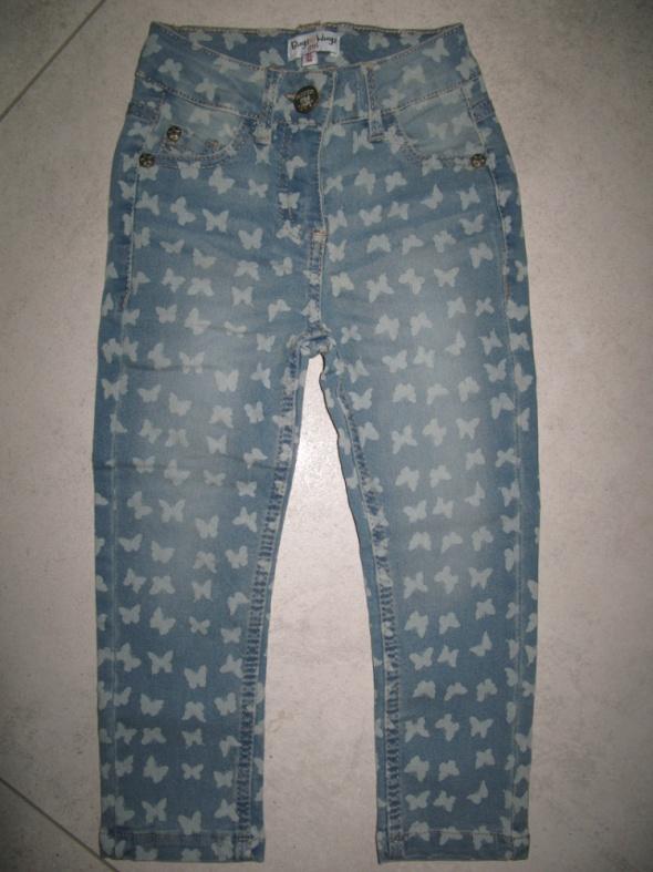 BUGS&HUGS dziewczęce jeansy w motylki roz 92...