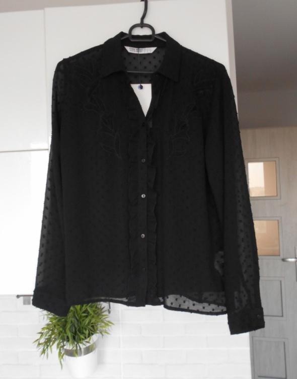 Zara nowa koszula czarna mgiełka plumeti...
