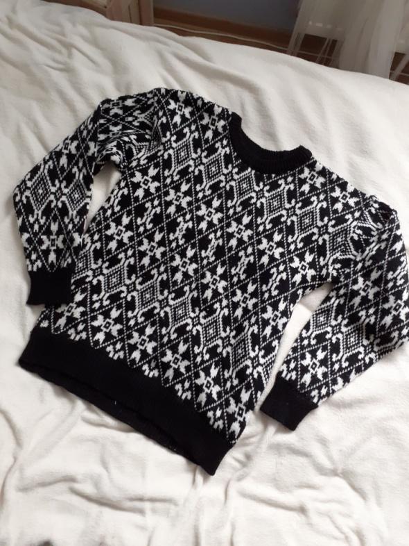 Swetere sweterek męski czarno biały...