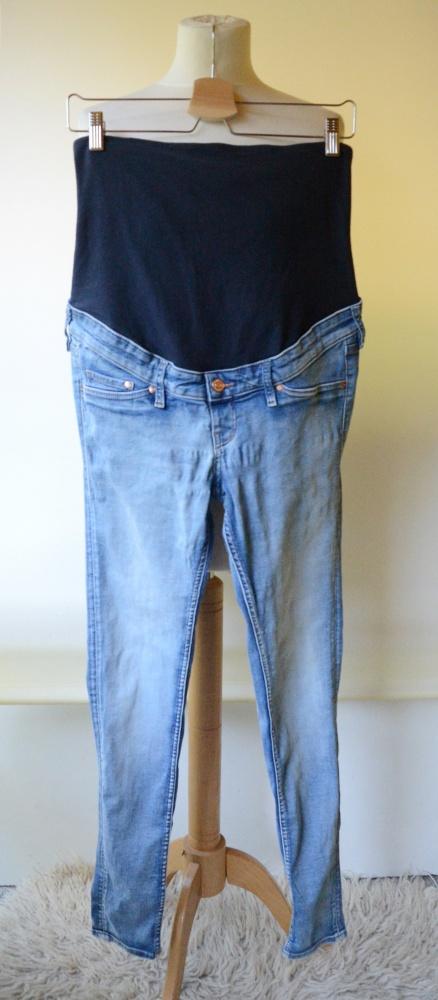 Spodnie Spodnie H&M Mama Skinny Rurki S 36 Dzinsowe Jeans