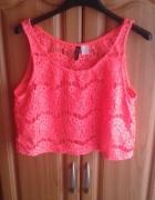 Neonowa bluzeczka crop top h&m