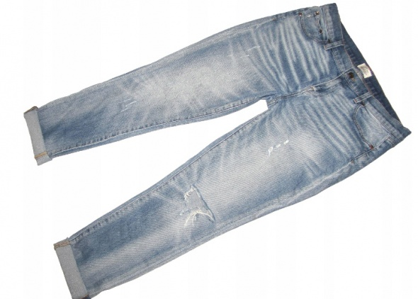 Spodnie J CREW jeansy boyfriendy przetarcia dziury r 42 44