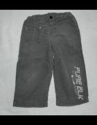 Szare sztruksy spodnie 92...