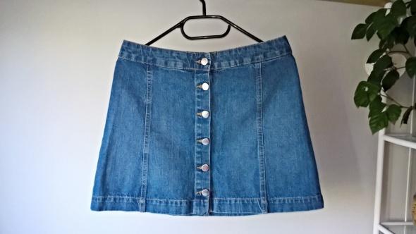 Jeansowa spódniczka na guziki S M H&M...