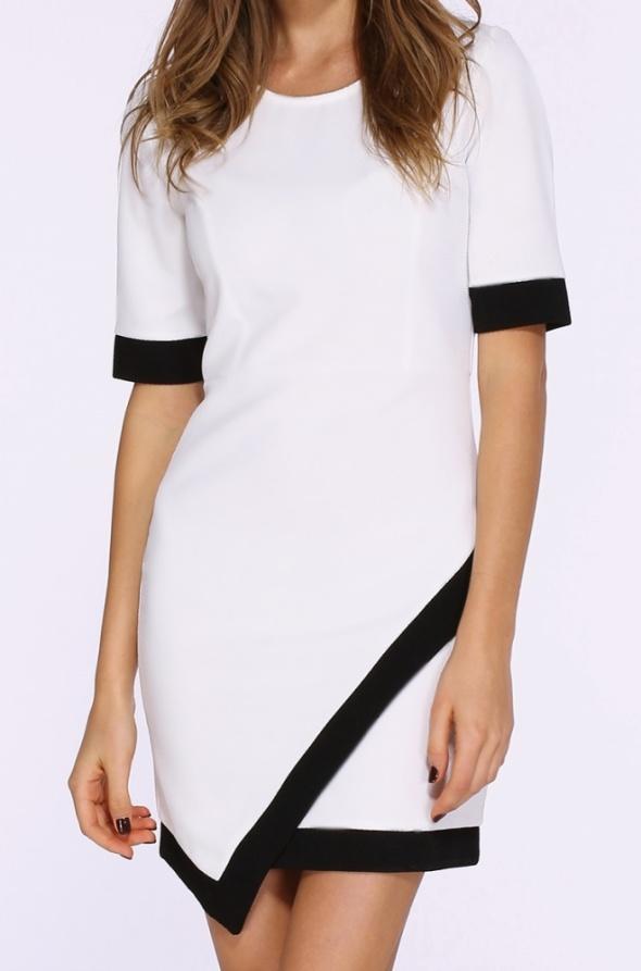 Asymetryczna kopertowa piękna sukienka S M
