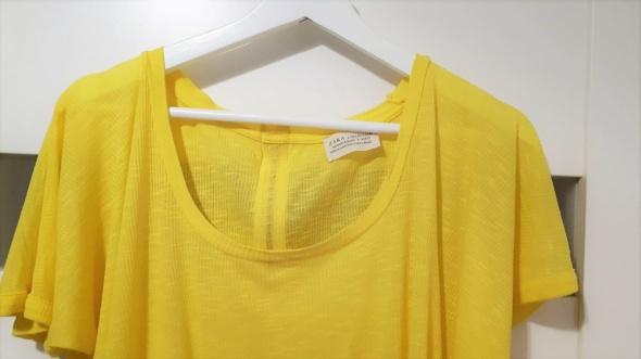 Śliczna żółta neo bluzka nietoperz Zara 36 S...