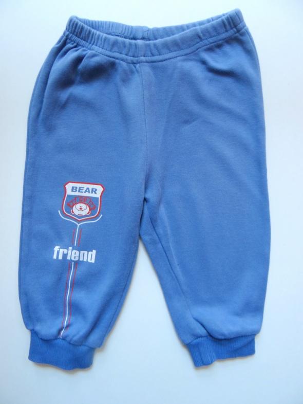 Spodnie i spodenki Niebieskie dresowe spodnie rozmiar 86