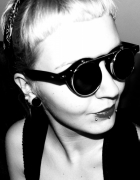 Brylove Steampunk Gogle Okulary Okrągłe goth gotic...