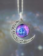 naszyjnik z księżycem moon księżyc goth steampunk...