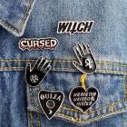 Przypinki Witch Goth Killsar Sinfasion piny pins broszki punk dark Gothic pentagram ouija
