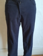 Granatowe spodnie 3 4 r 44...